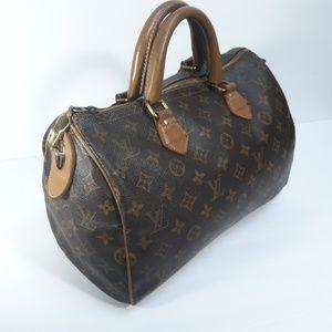 Louis Vuitton French Co Monogram Speedy 30 Bag